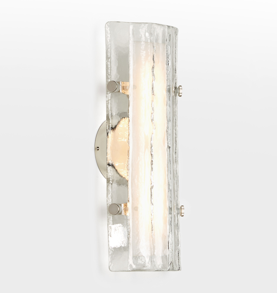 """Willamette 16"""" Led Fluted Glass Wall Sconce by Rejuvenation"""