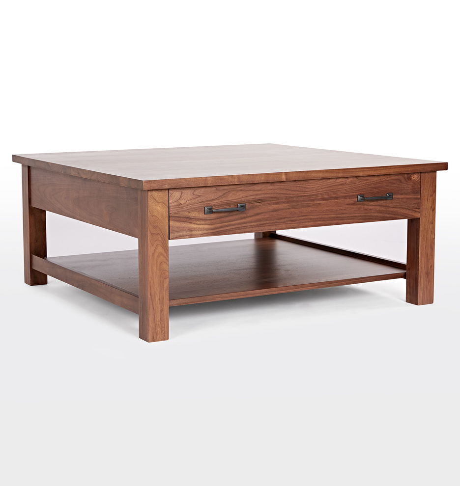 Hugo Walnut Storage Coffee Table by Rejuvenation