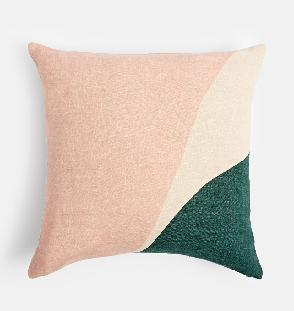 Parade.Pimlico.Pearl Screen Printed Tan Pillow Cover by Rejuvenation