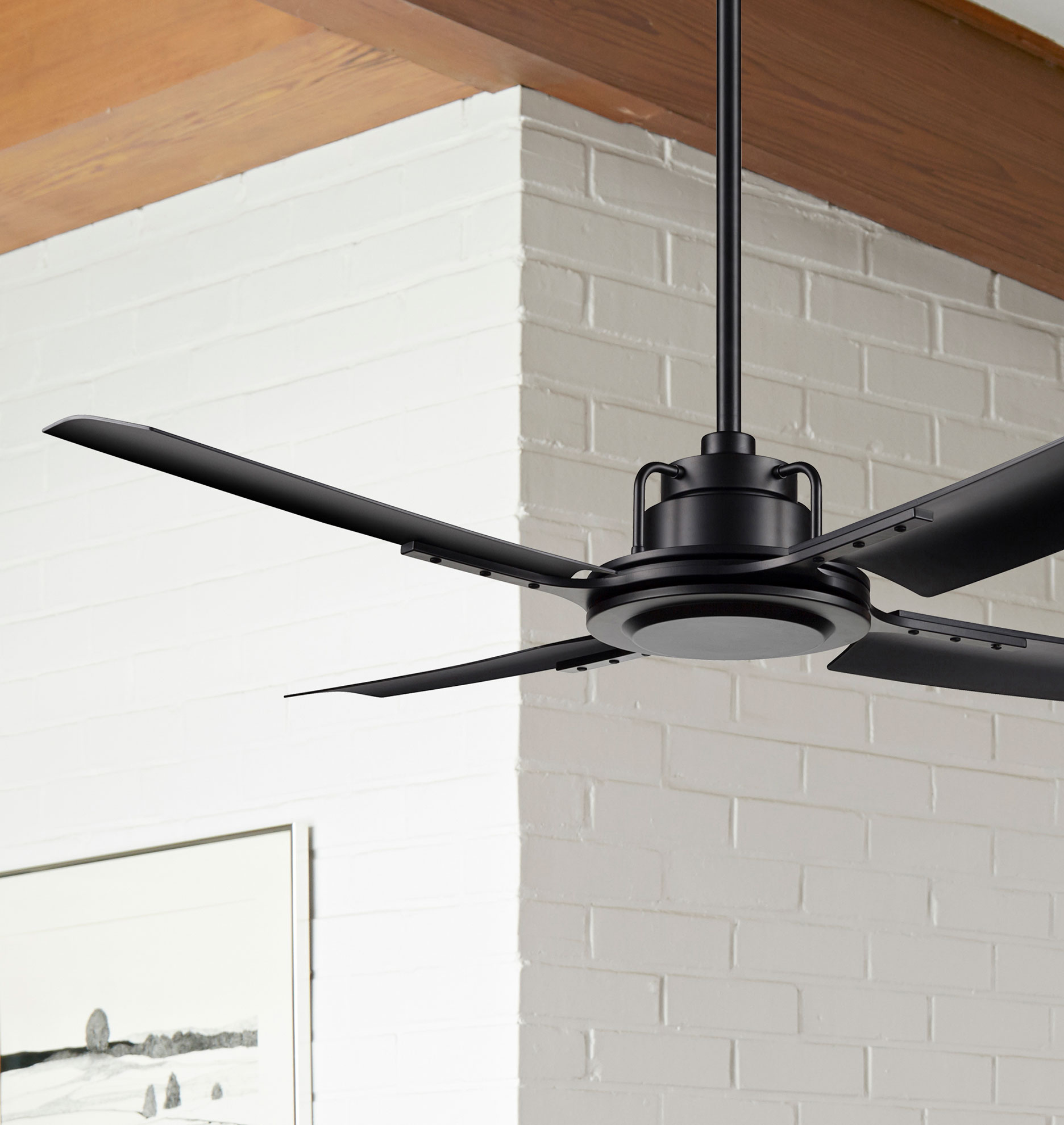 Peregrine Industrial Ceiling Fan No Light 4 Blade Ceiling Fan