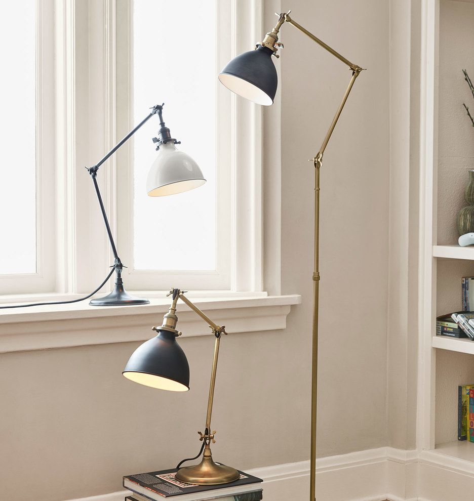 Grandview floor lamp aged brass fixture rejuvenation share your style myonepiece aloadofball Gallery