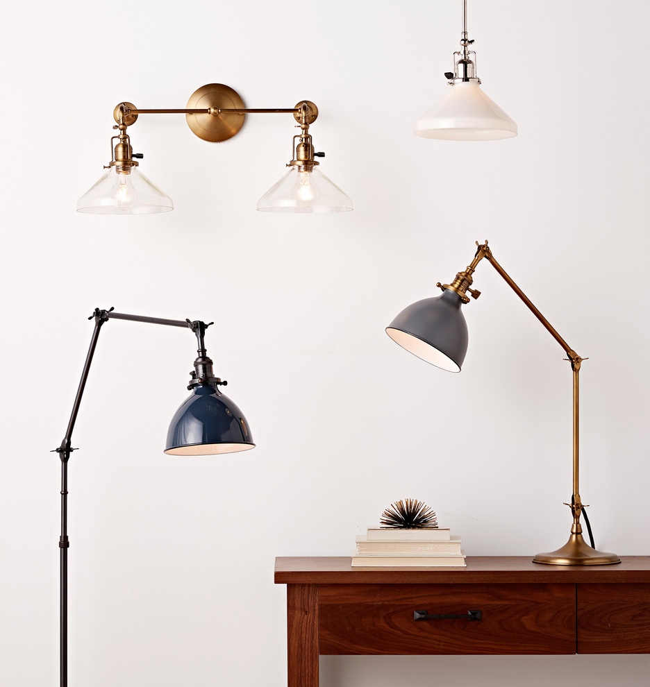 Grandview floor lamp aged brass fixture rejuvenation share your style myonepiece geotapseo Choice Image