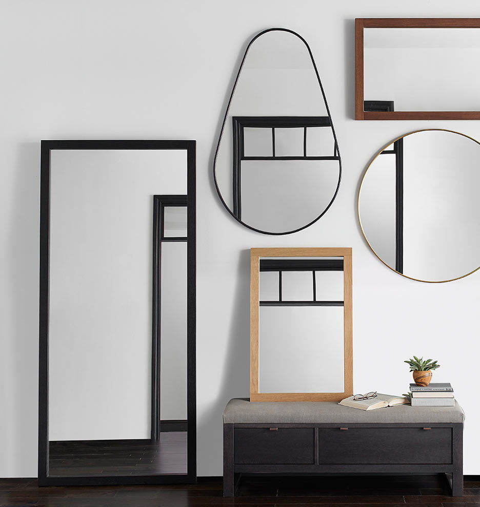 Round metal framed mirror rejuvenation share your style myonepiece gumiabroncs Image collections