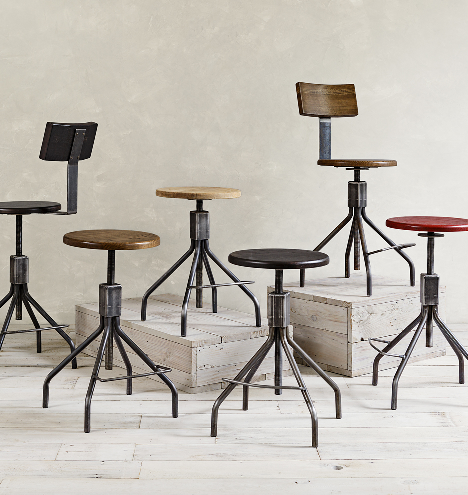 rickshaw industrial furnitures stood stools manivelle en tabouret stool