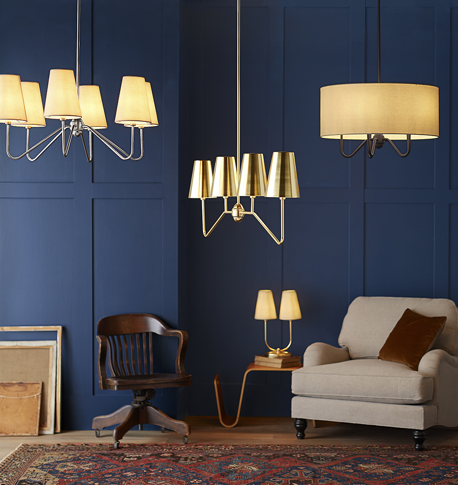 Berkshire Double Lamp with Metal Shades | Rejuvenation