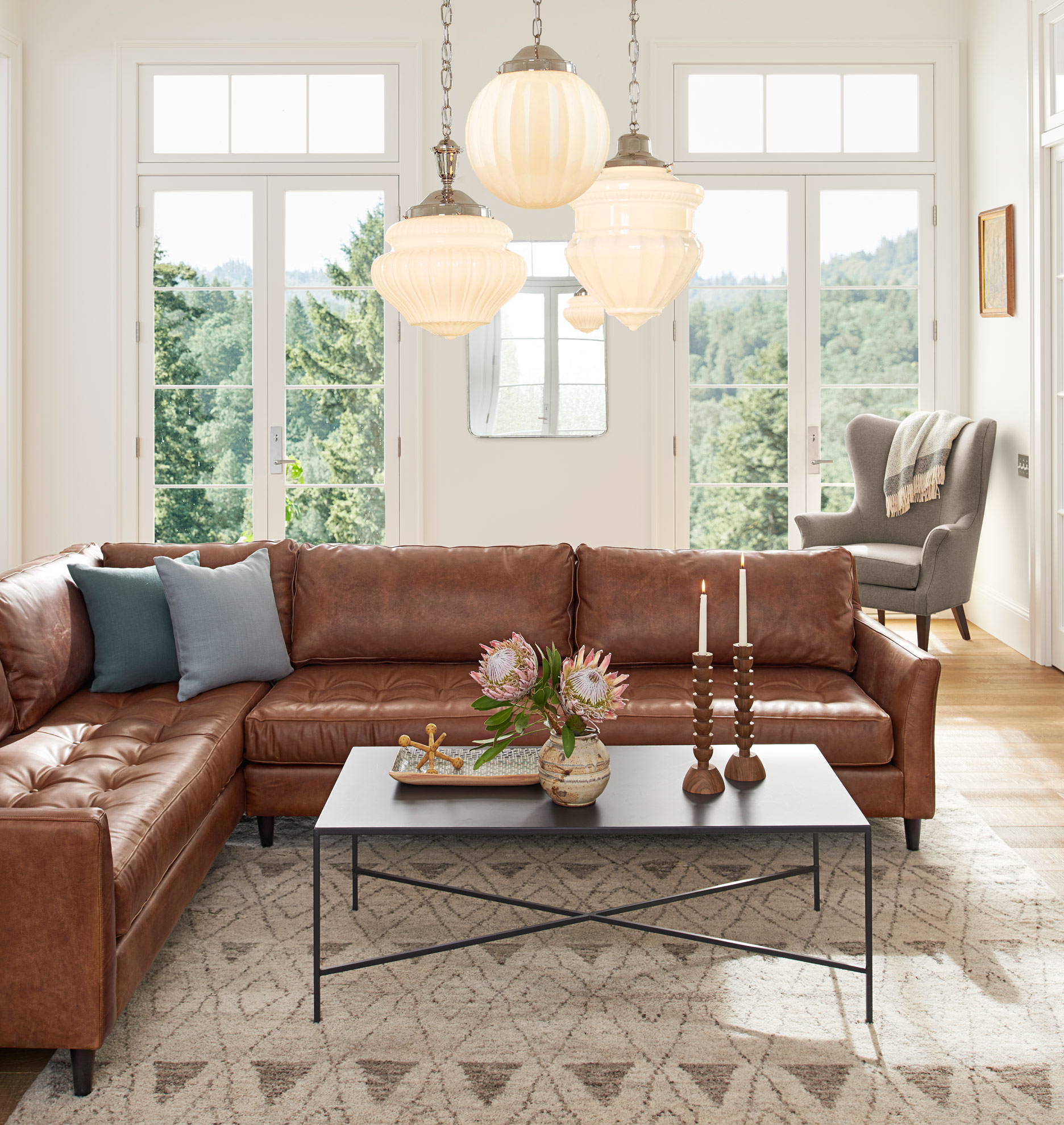 Hastings Sectional Leather Sofa - Right Arm   Rejuvenation