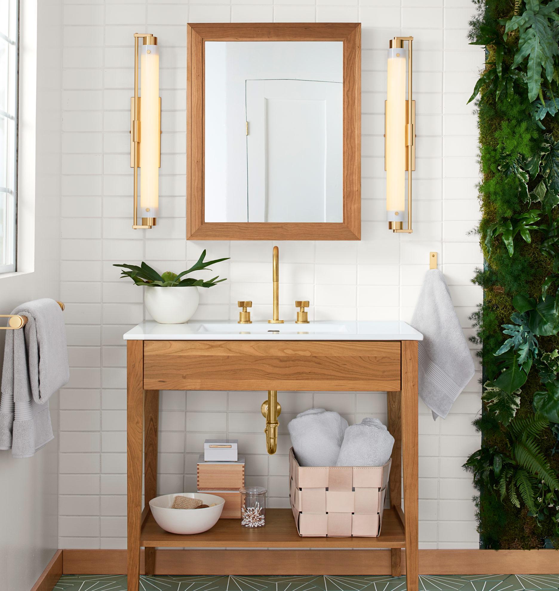 West Slope LED Sconce Rejuvenation - Polished nickel bathroom sconces