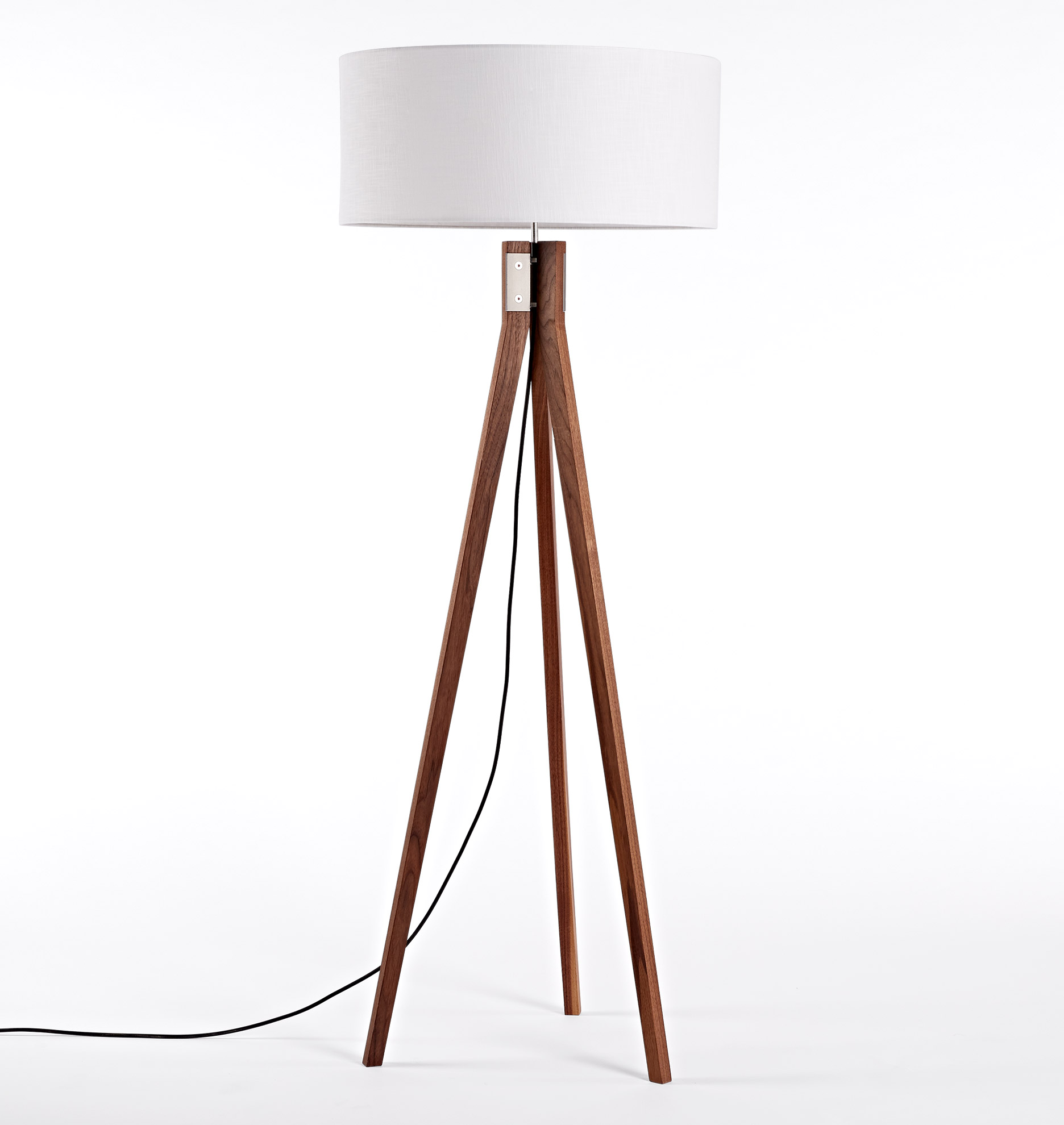FOLK Tripod Floor Lamp Walnut Rejuvenation