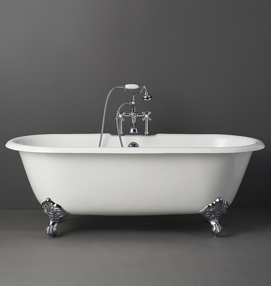 5-1/2\' Double-Ended Clawfoot Tub with White Exterior | Rejuvenation