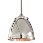 Laurelhurst 8in Pendant with Metal Dome and Prismatic Dome
