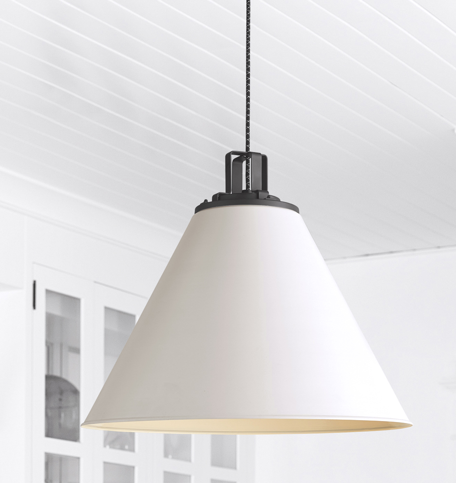 shade tradepoint silver tp d light departments cone pendant aluminium prd