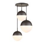 Cedar & Moss Mixed Globe 3-Light Multipendant 12in Round