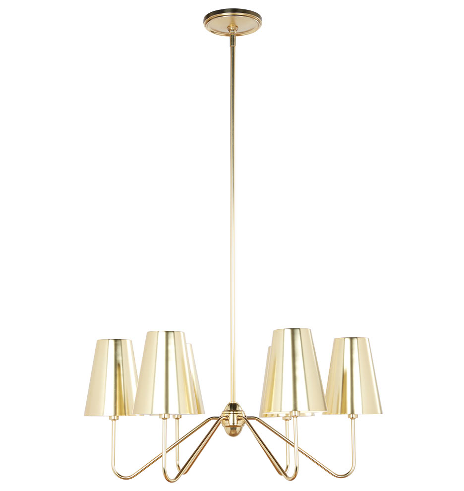 Berkshire 6 arm chandelier with metal shades rejuvenation mozeypictures Image collections