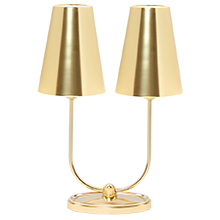 Berkshire double lamp with linen shades rejuvenation berkshire double lamp with metal shades aloadofball Images