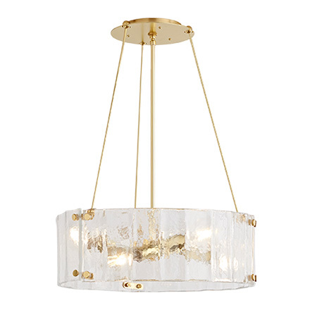 Willamette 24 clear fluted glass chandelier rejuvenation aloadofball Image collections