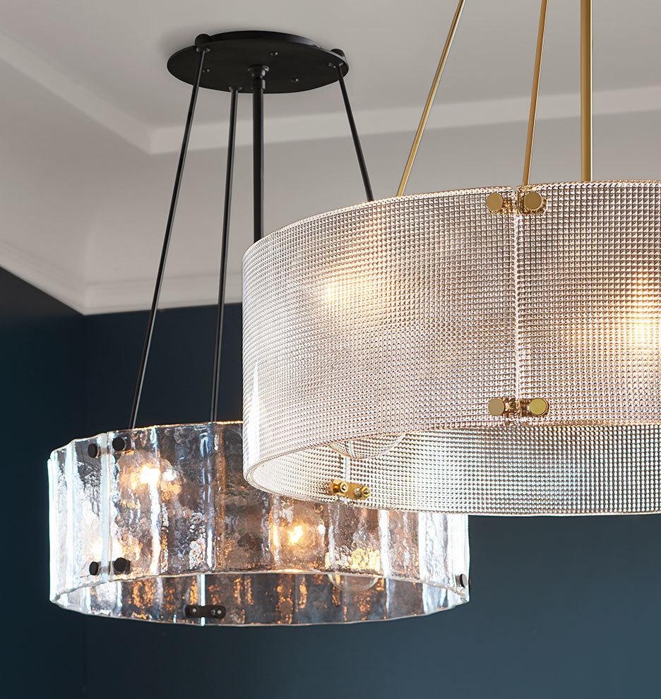 Willamette 24 diamond glass chandelier rejuvenation 160713 y2016b7 glass drum v2 base 0614 a0640 a0643 mozeypictures Images
