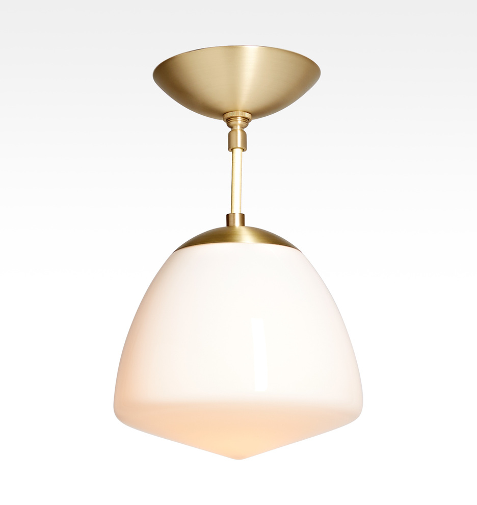 Flushmount lighting rejuvenation oswego 9 opal dome semi flush mount fixture arubaitofo Image collections