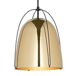 Haleigh Wire Dome Rod Pendant - 12 in - Lacquered Brass