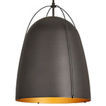 Haleigh Wire Dome Rod Pendant - 16 in - Oil-Rubbed Bronze Dome