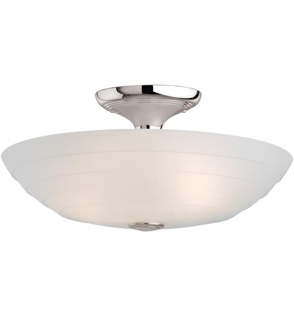 Schoolhouse Pendant Track Lighting: Glide Center-Post Small Semi-Flush Fixture
