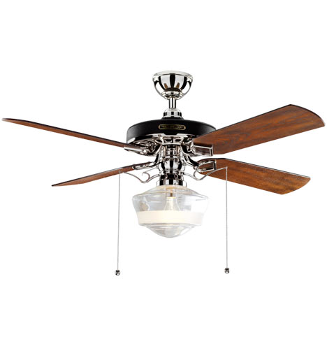 Heron Ceiling Fan With Ogee Schoolhouse Single Satin