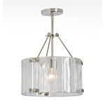 14in Willamette Fluted Semi-Flush Fixture