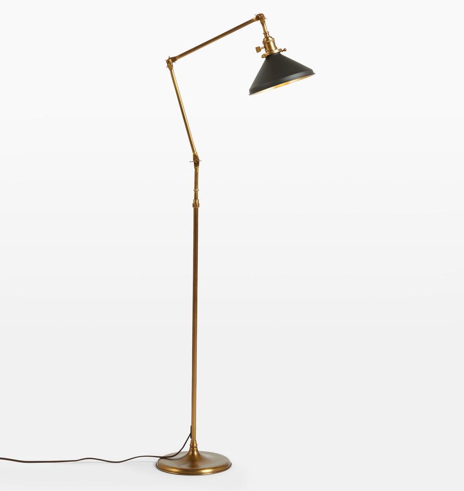 Grandview Floor Lamp With Cone Shade Rejuvenation