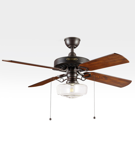Heron Ceiling Fan With Clear Eastmoreland Shade Rejuvenation