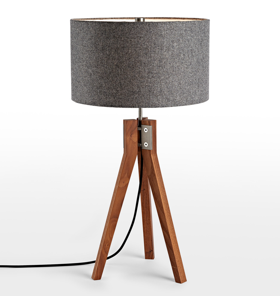Folk tripod table lamp walnut rejuvenation aloadofball Images