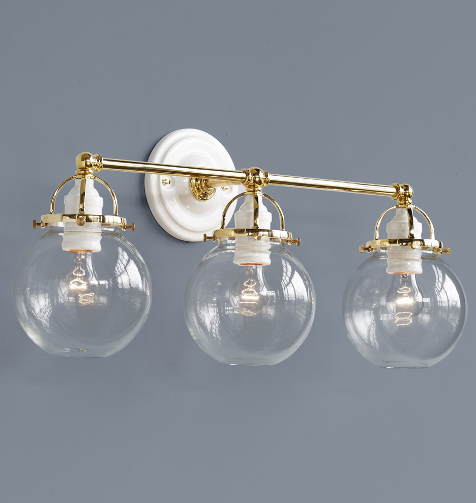 Mist Triple Sconce Rejuvenation - Triple bathroom sconce