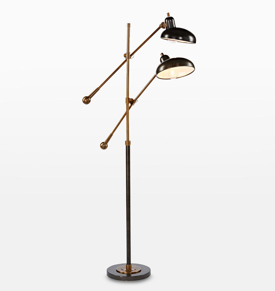 Bruno Double Arm Floor Lamp Rejuvenation