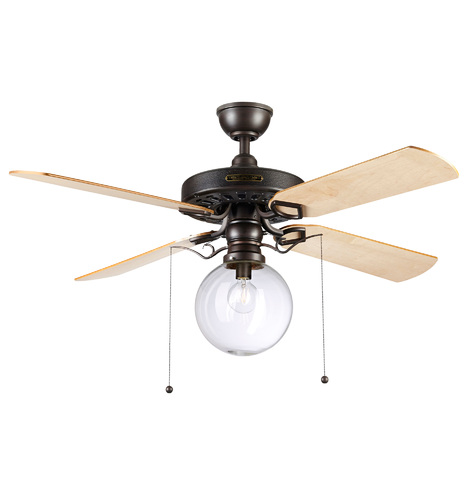 Heron ceiling fan with clear globe shade 4 blade ceiling fan with qty mozeypictures Images
