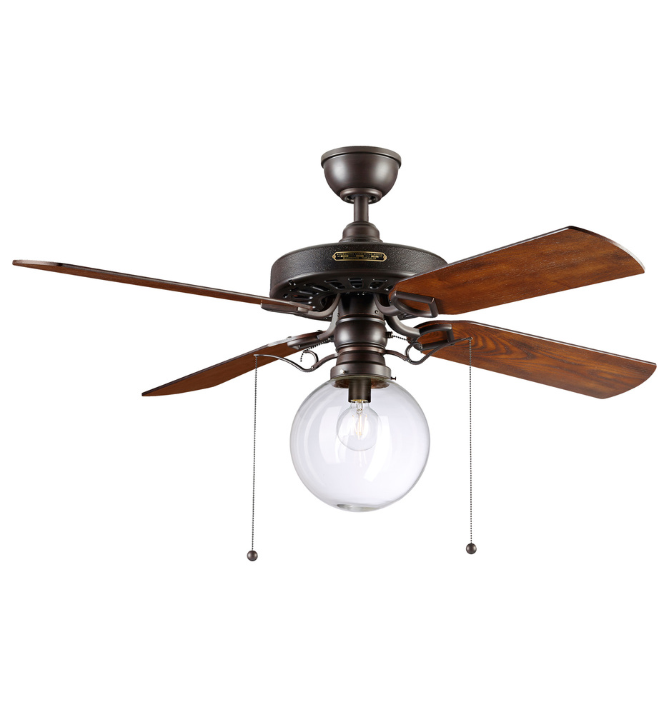 Heron ceiling fan with clear globe shade 4 blade ceiling fan heron ceiling fan with clear globe shade 4 blade ceiling fan with light kit rejuvenation aloadofball Images