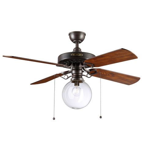Heron Ceiling Fan With Clear Globe Shade Rejuvenation