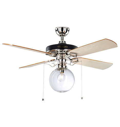 Heron ceiling fan with clear globe shade 4 blade ceiling fan qty mozeypictures