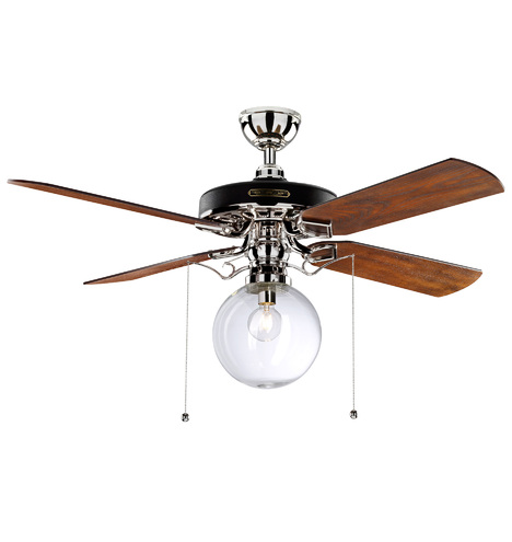 Heron ceiling fan with clear globe shade 4 blade ceiling fan qty aloadofball Images