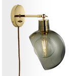 Edendale Angled Articulating Plug-In Sconce - Smoke Glass