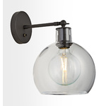 Edendale Straight Articulating Sconce - Clear Glass