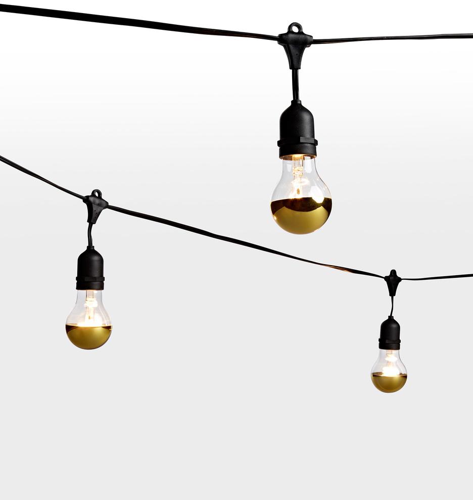 24 a19 gold tip bulb string lights rejuvenation