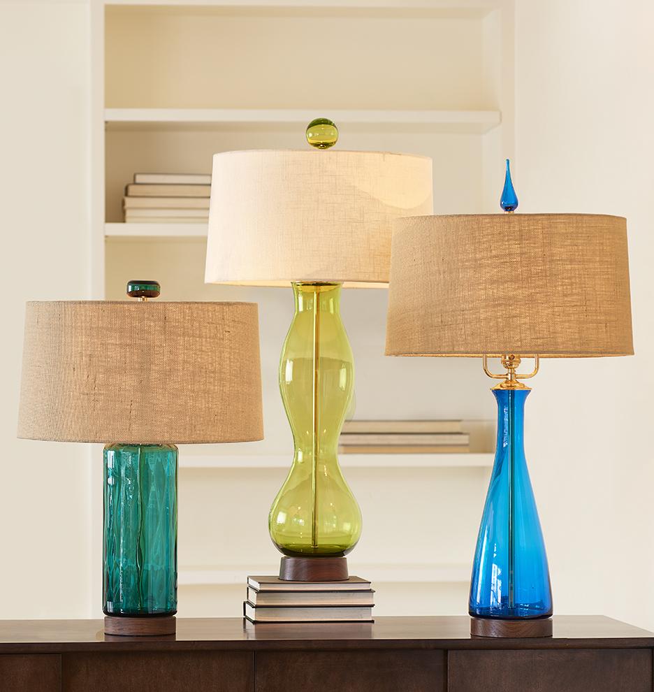 Peacock Cylinder Table Lamp | Rejuvenation
