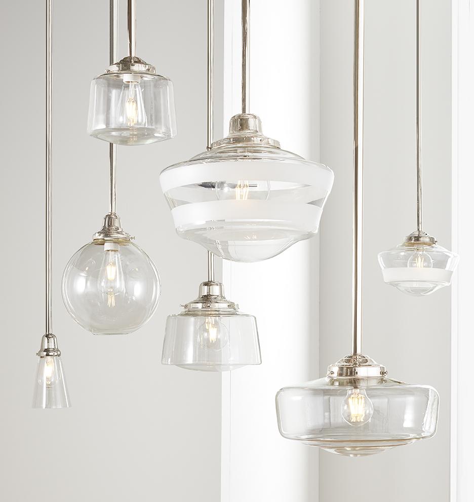 Bathroom lighting pendants Industrial Rejuvenation Rose City 6