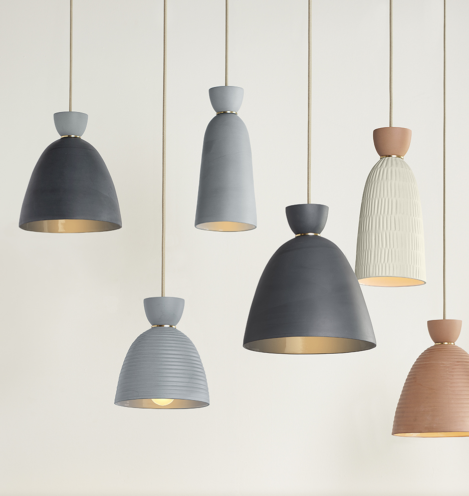 pendant grey home cone metal pdgr scenario products lacquered