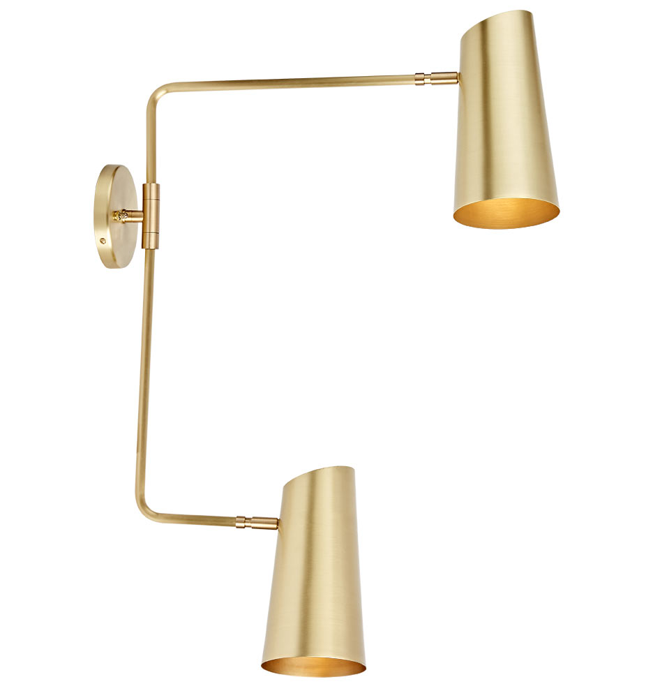 Cypress double swing arm sconce
