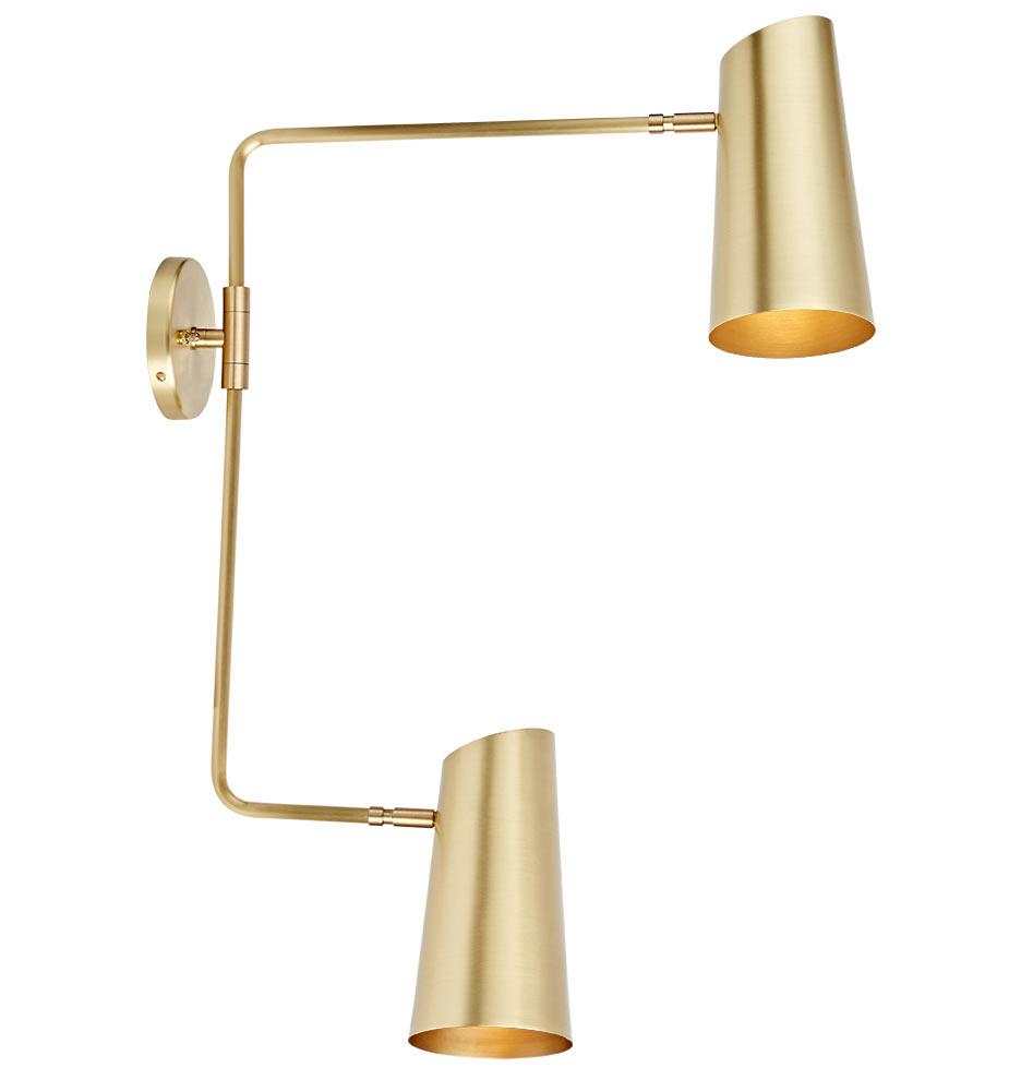 Brass Swing Arm Sconce