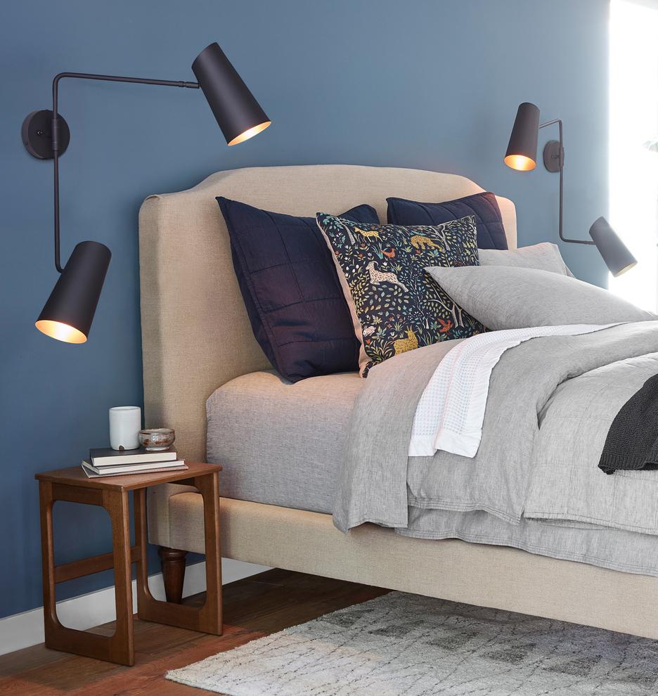 Bedroom Design Cozy Bedroom Door Handles With Locks Carpet For Bedroom Bedroom Lighting Lamps: Cypress Double Swing Arm Sconce