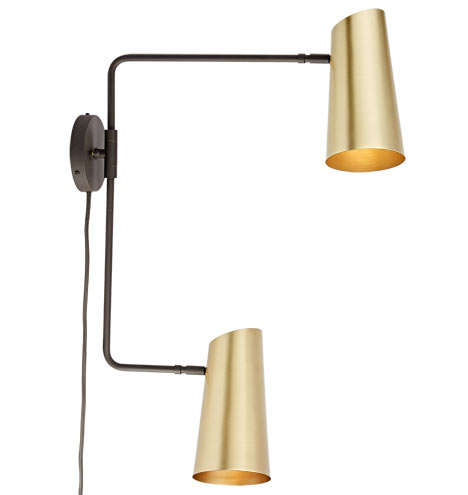 Cypress Double Swing Arm Sconce Plug In Rejuvenation