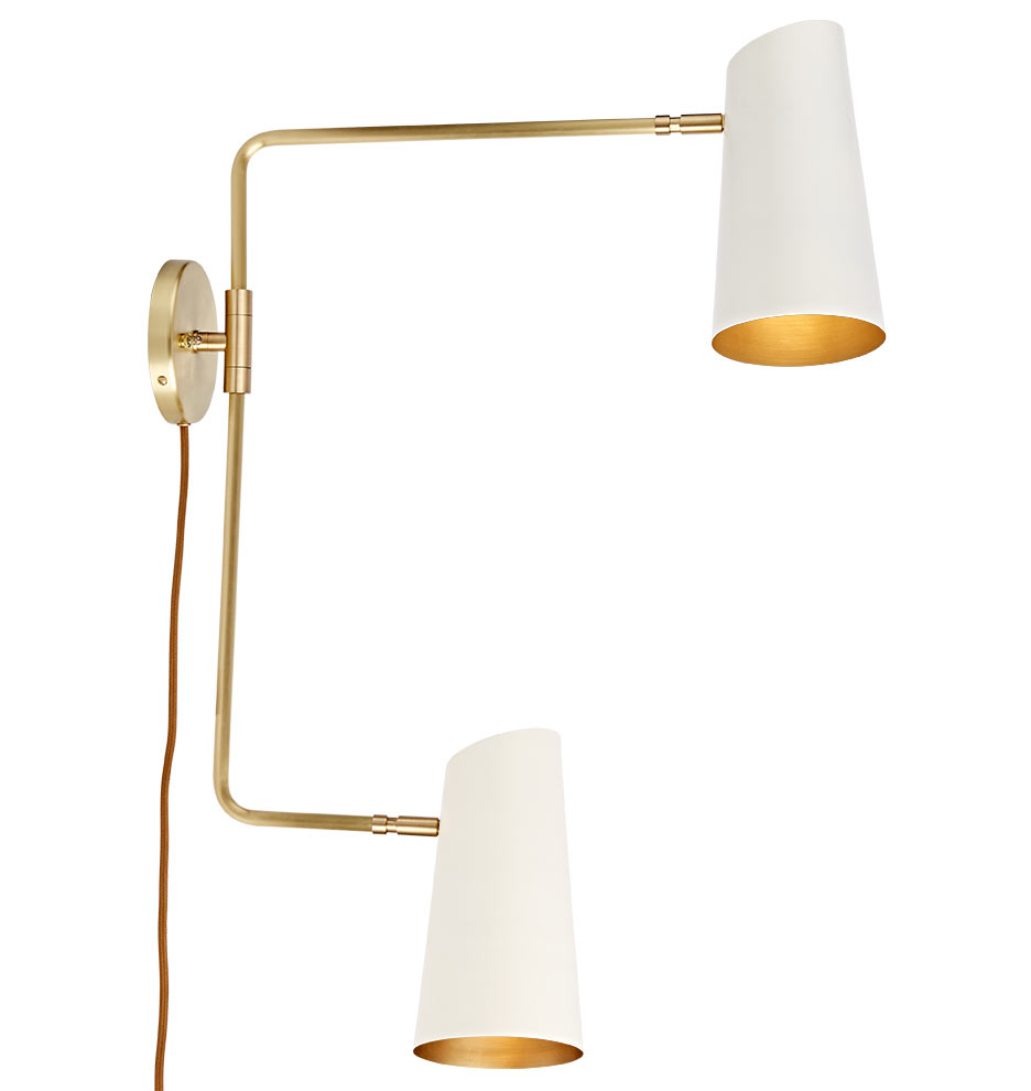 Cypress Double Swing Arm Sconce Plug In