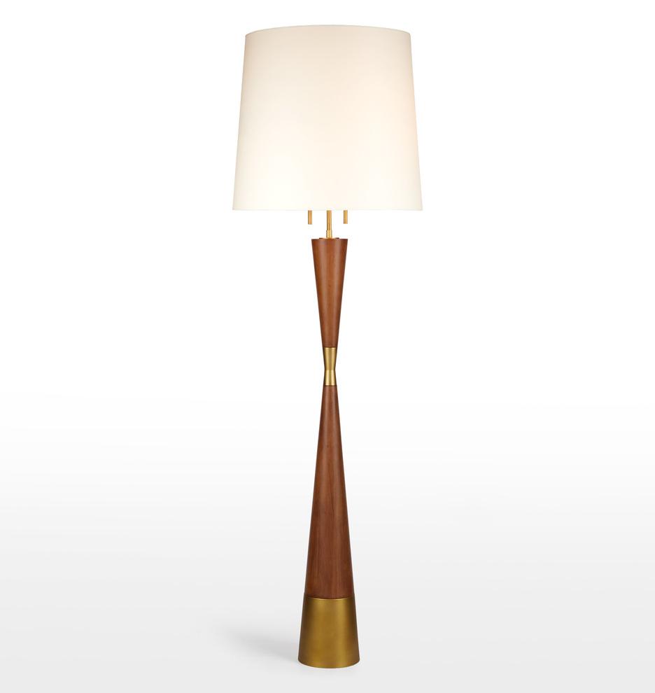 Mid-Century Wooden Floor Lamp   Rejuvenation