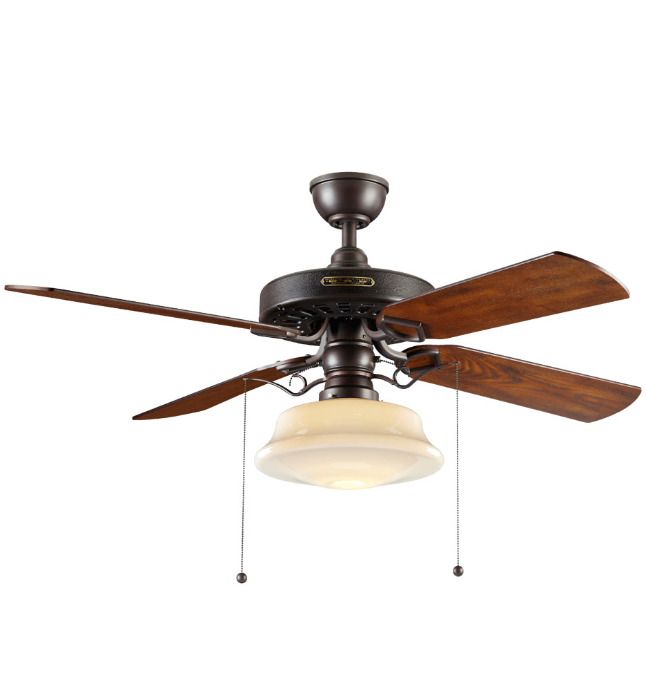 Hunter Allendale 52 Antique Brass Ceiling Fan At Menards: Lighted Ceiling Fan