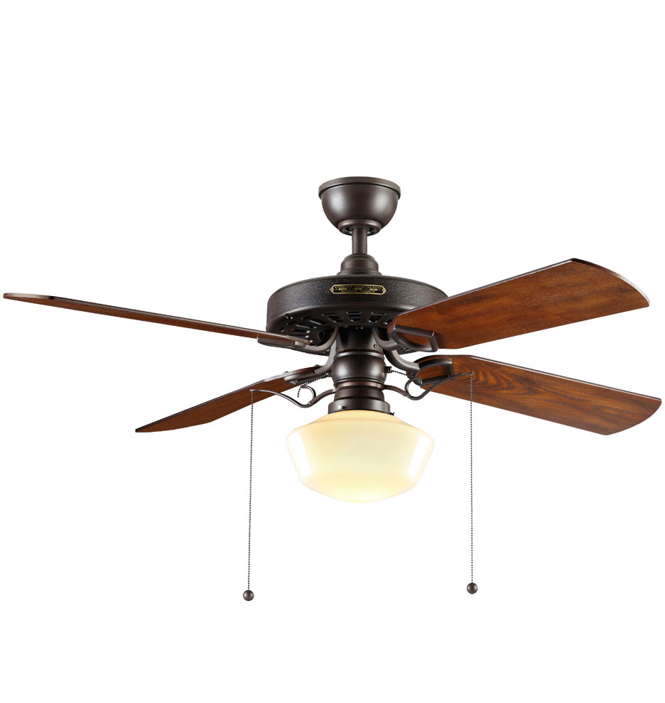 Heron ceiling fan with classic opal shade 4 blade ceiling fan with final weekend up to 40 off mozeypictures Gallery